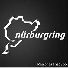 2X NURBURGRING Funny Car Van Window Bumper JDM VW VAG EURO Vinyl Decal Sticker
