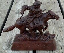 WINCHESTER Horse Rider FOUNDRY STATUE Cast Iron COIN BANK