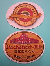 Beer COASTER ~ ROYAL OAK Brewery 1995 ~ ROCHESTER MILLS Beer Co 1998 ~ MICHIGAN
