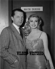 ANITA EKBERG sexy candid PHOTO young BUSTY dressing room CUTE PIC