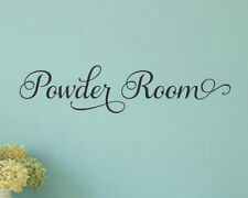 POWDER ROOM Bathroom Words Lettering Vinyl Wall Decal Quote Sticker Home Decor