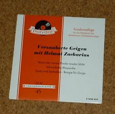 Single EP Verzauberte Geigen mit Helmut Zacharias Violin Polydor E 76502