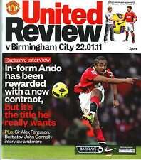 MANCHESTER UNITED v BIRMINGHAM 22 JAN 2011 EXC COND. SILLY PRICE