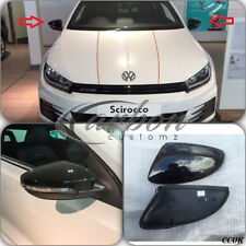 VW SCIROCCO GENUINE OEM WING MIRROR COVERS IN VW FACTORY GLOSS BLACK - PAIR -