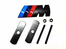 1Pcs Black ///M Alloy Metal Auto Vehicle Body Front Grill Grilles Badge Emblem