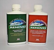 Renovo Boot / Marine Vinyl Reiniger  und Vinyl Ultra Proofer satz. 2 x 500ml