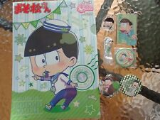 Osomatsu san Choromatsu Bundle Set 3 Badges, Clearfile, Clip, Strap, Charm
