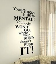 Your Fitness Motivational Quotes wall vinyl decals stickers Art Wall Graphics