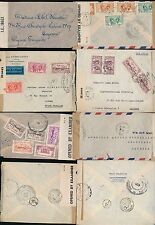 MARTINIQUE to FRENCH GUIANA 1944-45 BRITISH + FRENCH CENSORS...4 ITEMS
