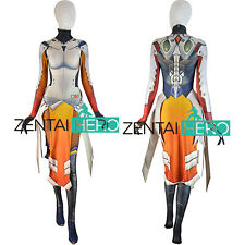 Overwatch Mercy Costume Armored W Strips 3D Print Spandex Jumpsuit Cosplay Suits