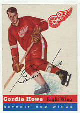 1954-55 TOPPS GORDIE HOWE #8 NM-MT!! VERY CLEAN AND WELL CENTERED! HALL OF FAME!
