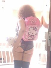 "NWT Hello Kitty Backpack Knapsack Sanrio 16""H x 12""W x 4""D Pink and White"