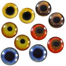 Lot 5 Pairs of 30mm Bird Glass Eyes Taxidermy Prop for Crafts Sculptures Jewelry