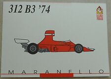 Ferrari Galleria 1992 312B3 F1 1974 Card Karte brochure prospekt book buch press
