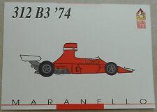 Ferrari Galleria 1992 312B3 F1 1974 Card Karte brochure prospekt book buch press