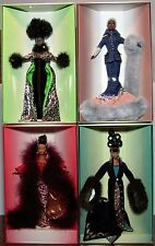 Byron Lars Runway Collection Four Barbie Dolls 1997-2000 Limited Edition NRFB