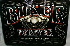"""RIVERS EDGE Tempered Glass Cutting Board  BIKER FOREVER  12"""" X 16"""""""