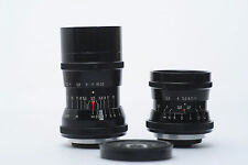 EXC Set of 2 Industar-50 F3,5 50mm and Wideangle PO-51 20mm f2,8 lens M27 mount
