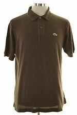 Lacoste Mens Polo Shirt Size 5 Medium Brown Cotton