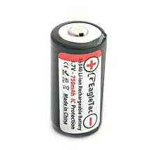 Eagletac 16340 RCR123A - Li-Ion 3.7V Protected Rechargeable Battery for CR123A