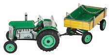 Kovap Zetor Traktor Grün mit Hänger NEU und OVP Top Preis !!!! Blechspielzeug