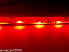 RED PC MODDING MOBO BACKLIGHTING LED STRIP 3 PIN POWER TWIN 20CM STRIPS