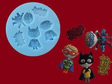 SUPER POWER Hero Pow Boom RAGAZZI Sugarcraft Torta Decorazione stampo in silicone Set