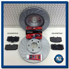 FOR SUBARU IMPREZA WRX 2.0 2.5 TURBO FRONT MINTEX BRAKE PADS GROOVED DISCS 4 POT