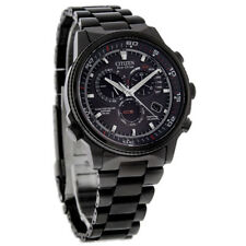 New Citizen Men's Nighthawk Flight Chronograph Eco-Drive Watch AT4117-56H