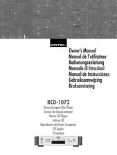 Rotel RCD-1072 CD Player Owners Manual