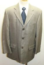 Oscar de la Renta Men Blazer 44R Gray Black 3 Buttons Made In Canada Wool Silk