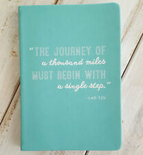 Blank JOURNEY OF THOUSAND MILES Travel Journal Inspiring Diary Eccolo Turquoise
