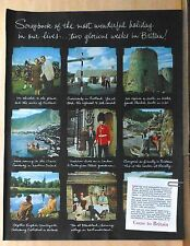 1952 magazine ad for Britain tourism - Scrapbook of photos, wonderful holiday