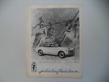 advertising Pubblicità 1961 COUPE' 2 POSTI SU FIAT 1500 PININFARINA