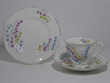 Royal albert lily of the valley trio tasse soucoupe assiette 1924 - 1935 comtesse de forme