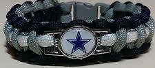 Dallas Cowboys Handmade Navy, Gray, & White Paracord Bracelet or Lanyard