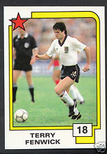 Panini Football Card- 1988 Soccer Superstars - No 18 - Terry Fenwick - England
