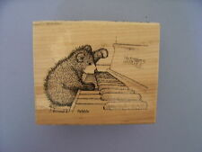 HOUSE MOUSE RUBBER STAMPS GRUFFIES PIANO PLAYER STAMP