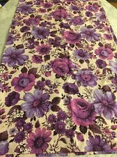 Pair Vintage M and S Curtains Marks Spencer St Michael Fabric 70s Retro Floral