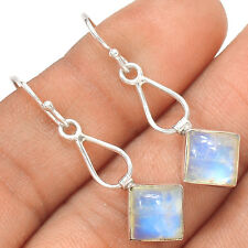 Rainbow Moonstone 925 Sterling Silver Earrings Jewelry SE135063
