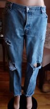 Vintage levis relaxed tapered 550 destroyed faded grunge high waist