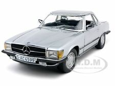 1977 MERCEDES SL 350 COUPE SILVER 1/18 DIECAST MODEL CAR BY SUNSTAR 4599