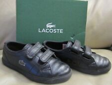 Lacoste Boys' Carnaby Leather Sneakers Size 9 Kids US