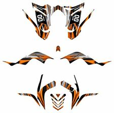 Raptor 700 R Custom Graphics Kit 2006 2007 2008 2009 2010 2011 2012 #1900 Orange