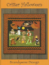 CRITTER HALLOWEEN Quilting Applique Pattern Book Animals - Brandywine Designs
