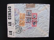 1941 China Cover to Denmark,Last Flight China Clipper,Detained+Released 1946,RRR