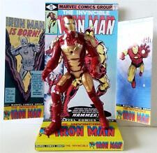 "Marvel Comic IRON MAN 6"" 15cm ACTION FIGURE on Custom Design Display Diorama #2"