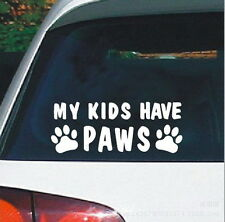 My Kids Have Paws Car Sticker Cats And Dogs In The Car Warning Stickers