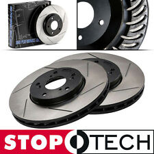 StopTech SLOTTED Brake Rotors - FRONT Right Left (92-95 Honda Civic) 126.40021S