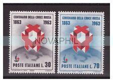 ITALIA 1963 -   CENTENARIO DELLA CROCE ROSSA   SERIE NUOVA **
